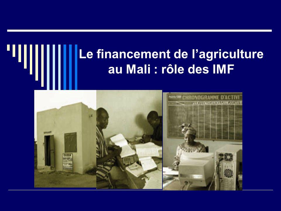 Le financement de lagriculture au Mali : rôle des IMF