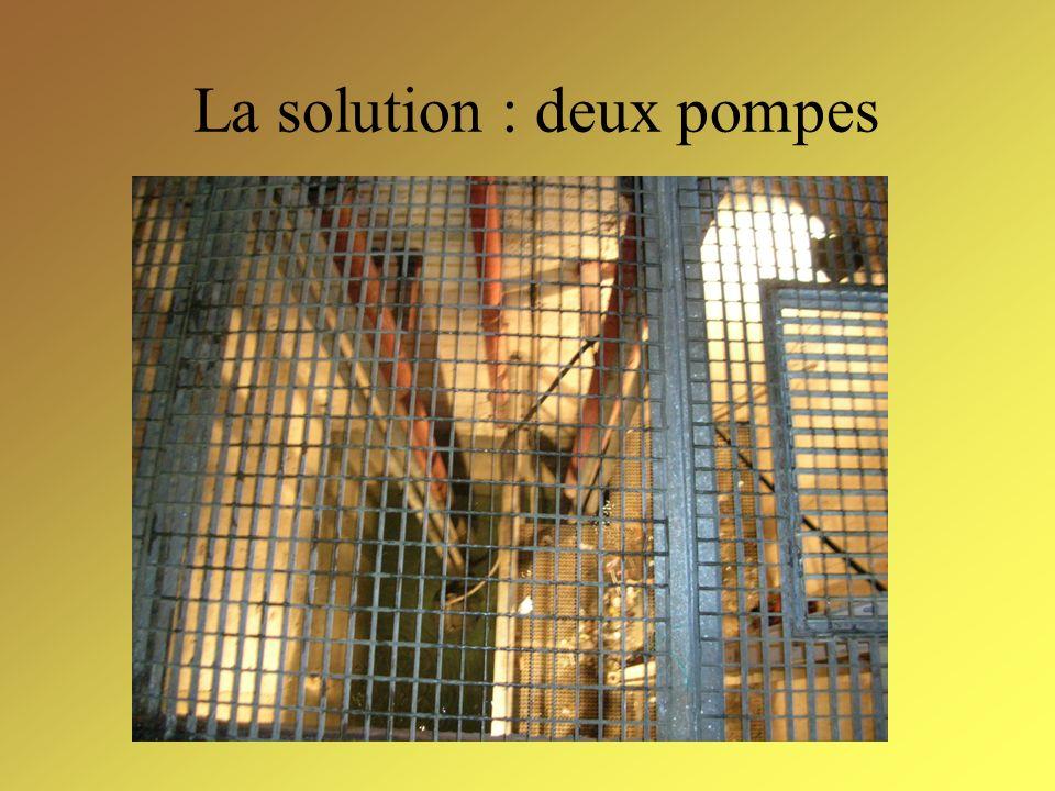 Le problème Les eaux d infiltration sont récoltées dans un puits.