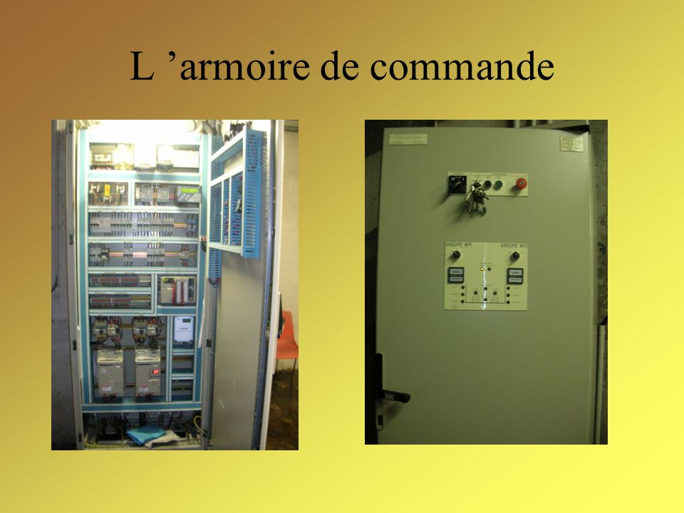 L armoire de commande