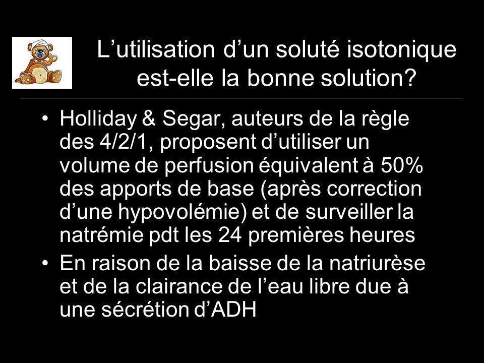 Lutilisation dun soluté isotonique est-elle la bonne solution.