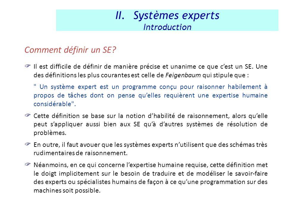 Comment définir un SE? Il est difficile de définir de manière précise et unanime ce que cest un SE. Une des définitions les plus courantes est celle d