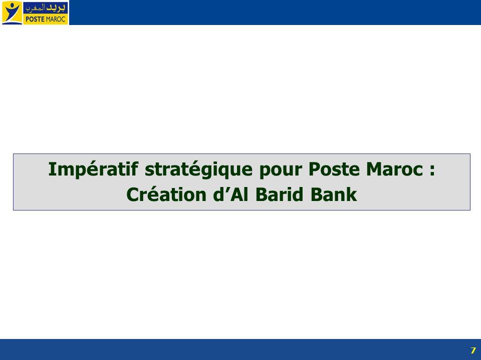 7 Imp é ratif strat é gique pour Poste Maroc : Cr é ation d Al Barid Bank