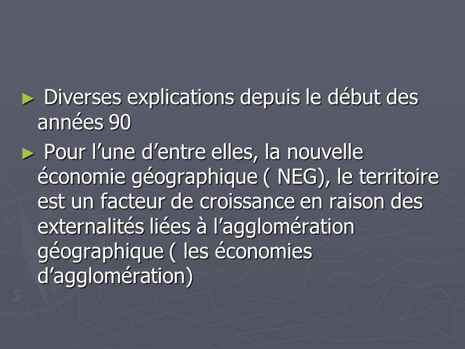 Diverses explications depuis le début des années 90 Diverses explications depuis le début des années 90 Pour lune dentre elles, la nouvelle économie g
