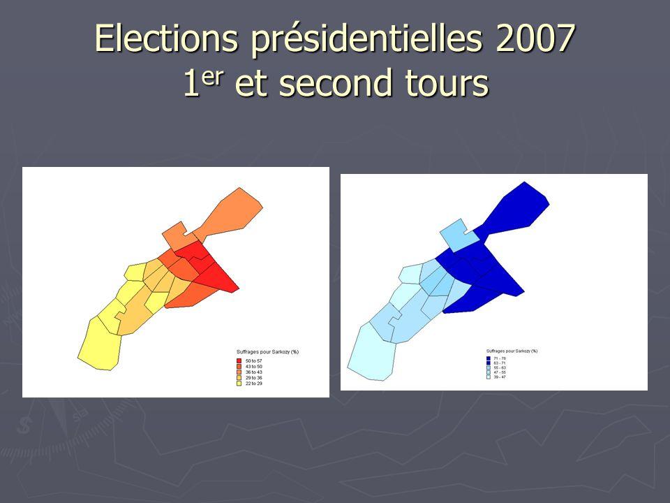 Elections présidentielles 2007 1 er et second tours