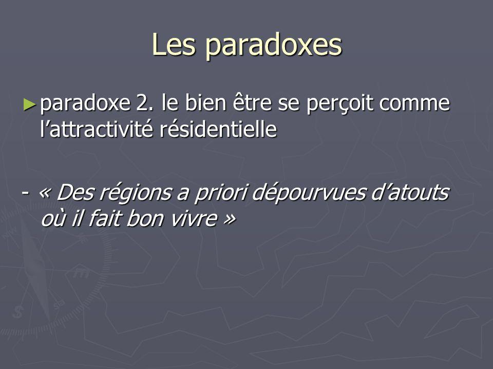 Les paradoxes paradoxe 2. le bien être se perçoit comme lattractivité résidentielle paradoxe 2. le bien être se perçoit comme lattractivité résidentie