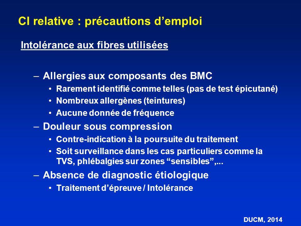 –Allergies aux composants des BMC Rarement identifié comme telles (pas de test épicutané) Nombreux allergènes (teintures) Aucune donnée de fréquence –