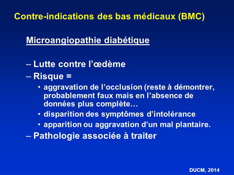 Microangiopathie diabétique –Lutte contre lœdème –Risque = aggravation de locclusion (reste à démontrer, probablement faux mais en labsence de données