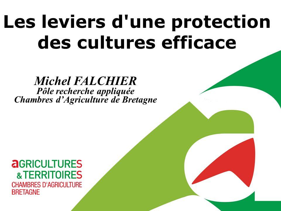 Michel FALCHIER Pôle recherche appliquée Chambres dAgriculture de Bretagne Les leviers d'une protection des cultures efficace