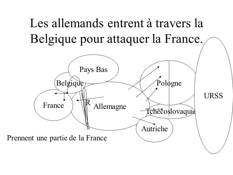 Blitzkrieg Quand les bombardements aériens ont comencés, ils (les français) sont restés pendant deux heures, puis ils sont partis en courant avec leur