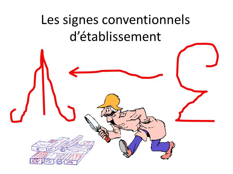 Les signes conventionnels détablissement