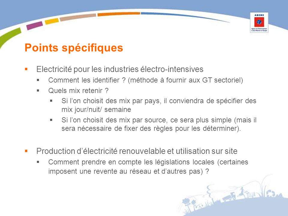 Points spécifiques Electricité pour les industries électro-intensives Comment les identifier .