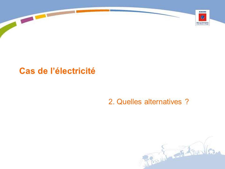 Cas de lélectricité 2. Quelles alternatives ?