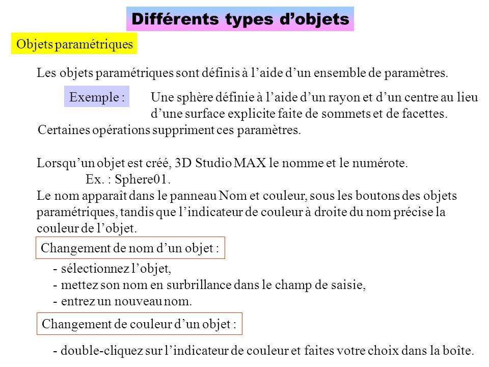 Concept de hiérarchie Quasiment tout, dans 3D Studio MAX, est organisé hiérarchiquement.