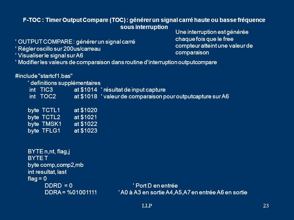 LLP22 lcdinit() print