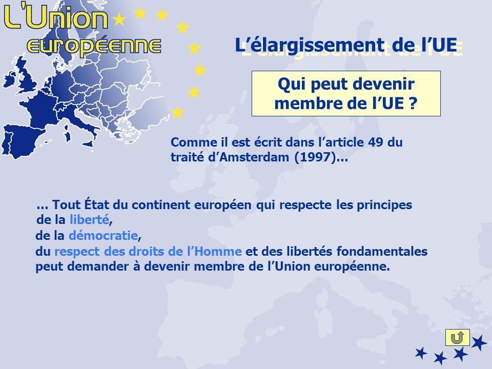 du respect des droits de lHomme et des libertés fondamentales peut demander à devenir membre de lUnion européenne.