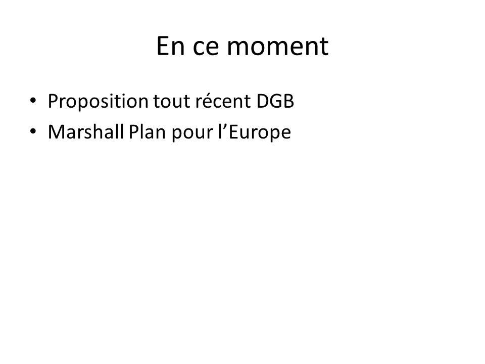 En ce moment Proposition tout récent DGB Marshall Plan pour lEurope