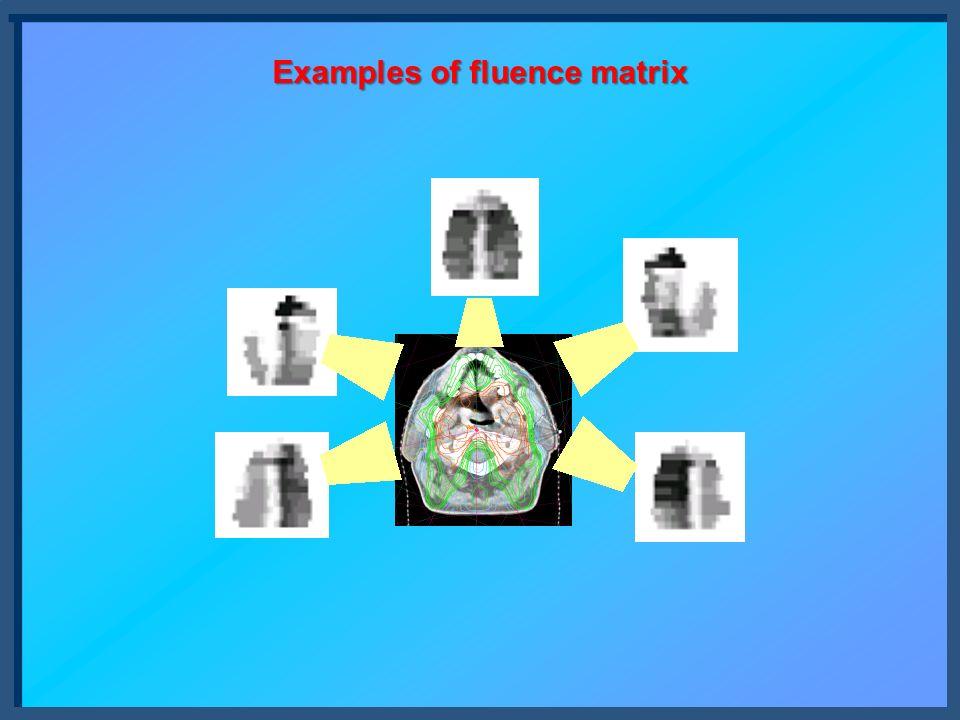 Examples of fluence matrix