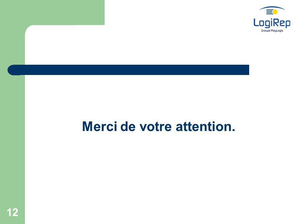 12 Merci de votre attention.