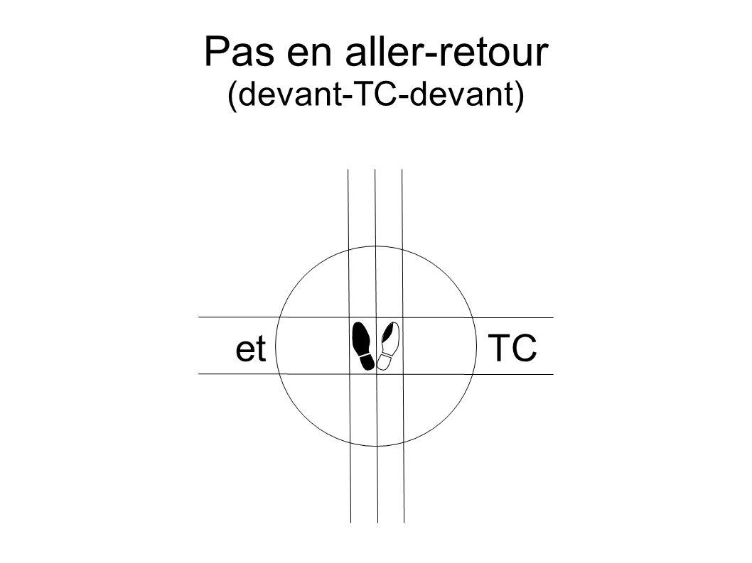 Pas en aller-retour (devant-TC-devant) etTC