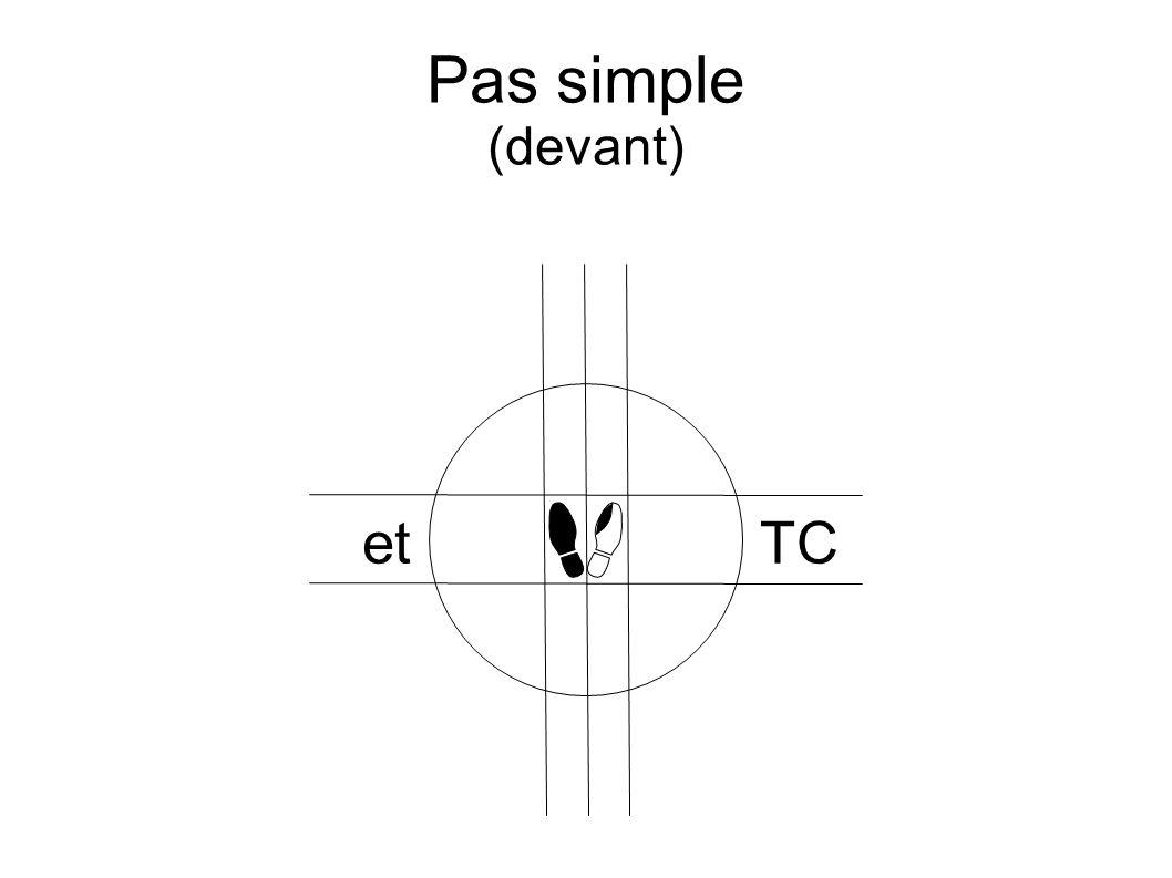 Pas simple (devant) etTC