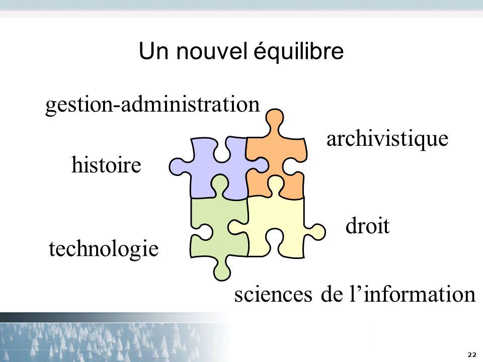 22 Un nouvel équilibre droit technologie sciences de linformation histoire gestion-administration archivistique