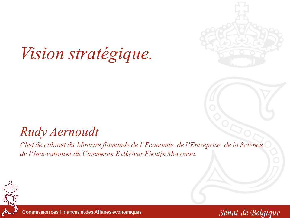 Sénat de Belgique Commission des Finances et des Affaires économiques Vision stratégique.