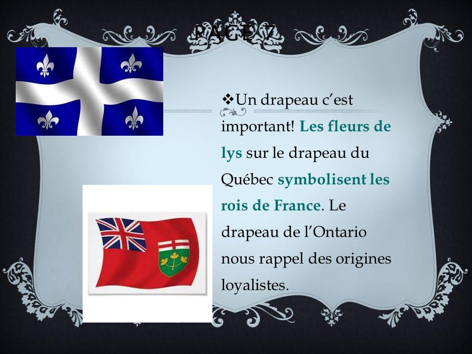 PAGE 7 Un drapeau cest important.