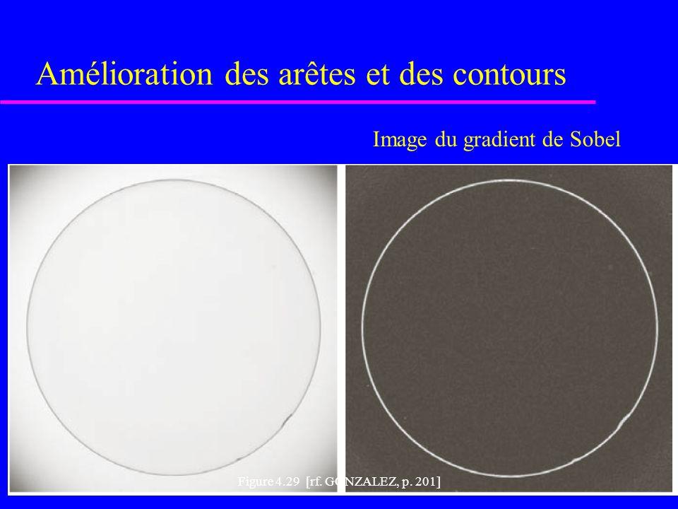 Amélioration des arêtes et des contours Figure 4.29 [rf.