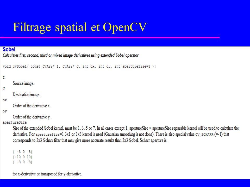 Filtrage spatial et OpenCV u Image lissée