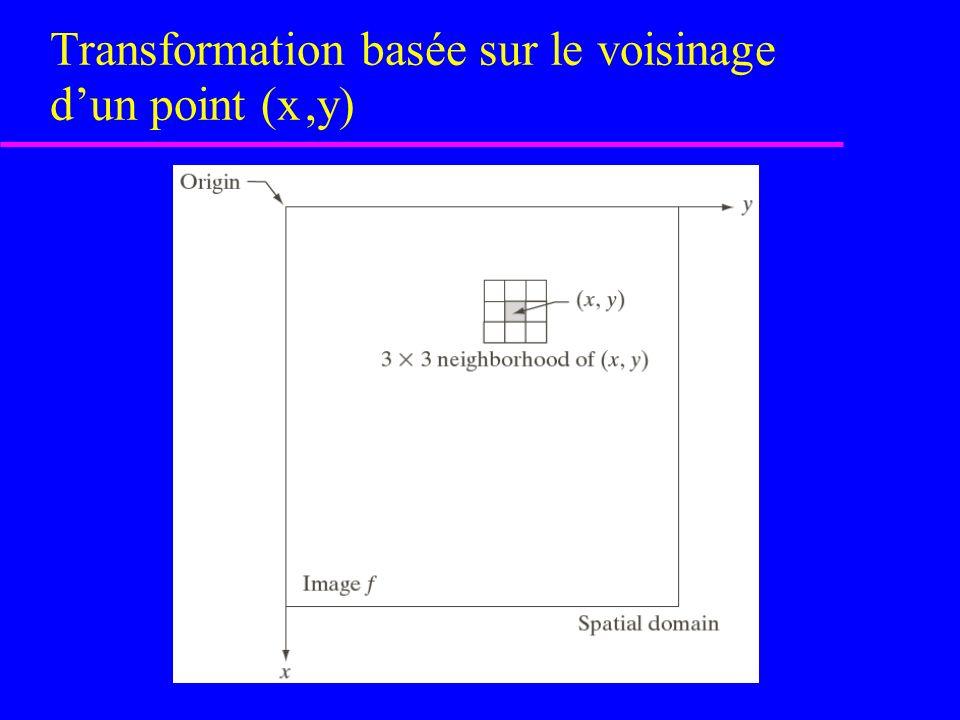 Types (3) de base du filtrage spatial Figure 4.19 [rf.
