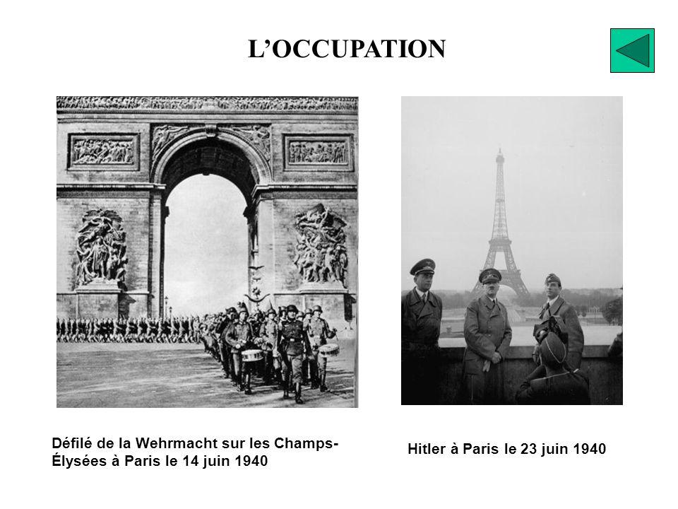 1) 1er septembre 1939 : invasion de la Pologne 2) avril 1940 : invasion du Danemark et de la Norvège 3) mai - juin 1940 : invasion des Pays-Bas, de la Belgique, puis de la France 4) août - octobre 1940 : bataille dAngleterre, puis bataille de lAtlantique (1940-42)