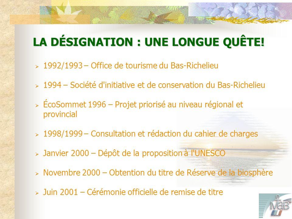 LA DÉSIGNATION : UNE LONGUE QUÊTE.