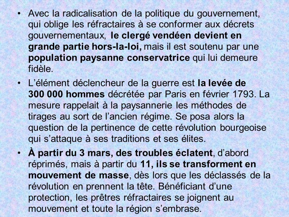 Avec la radicalisation de la politique du gouvernement, qui oblige les réfractaires à se conformer aux décrets gouvernementaux, le clergé vendéen devi