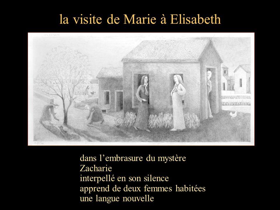 la visite de Marie à Elisabeth dans lembrasure du mystère Zacharie interpellé en son silence apprend de deux femmes habitées une langue nouvelle