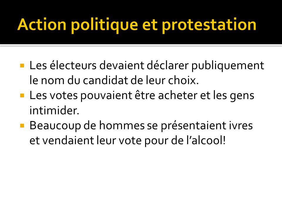Dans les années 1830, le gouvernement du Haut-Canada pouvait arrêter et emprisonner des manifestants politiques.