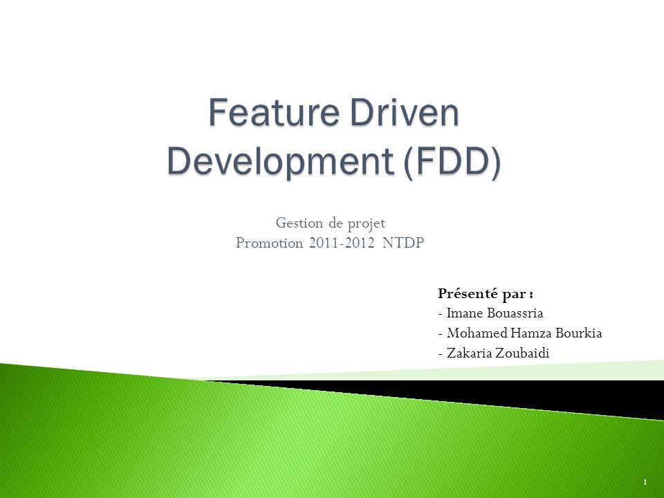 Gestion de projet Promotion 2011-2012 NTDP 1 Présenté par : - Imane Bouassria - Mohamed Hamza Bourkia - Zakaria Zoubaidi