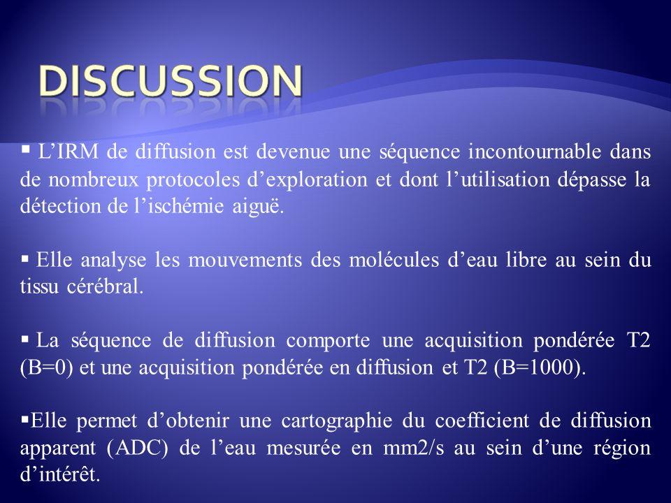 LIRM de diffusion est devenue une séquence incontournable dans de nombreux protocoles dexploration et dont lutilisation dépasse la détection de lisché