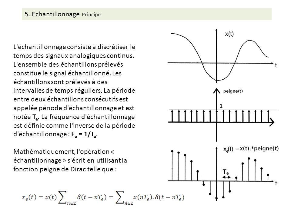 L échantillonnage consiste à discrétiser le temps des signaux analogiques continus.
