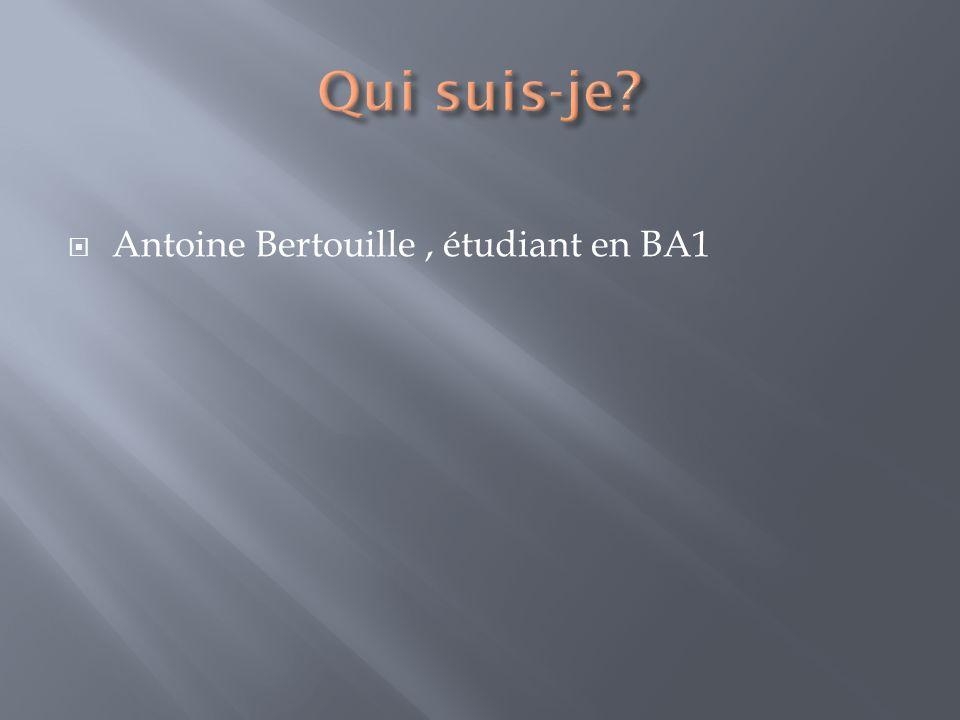Antoine Bertouille, étudiant en BA1