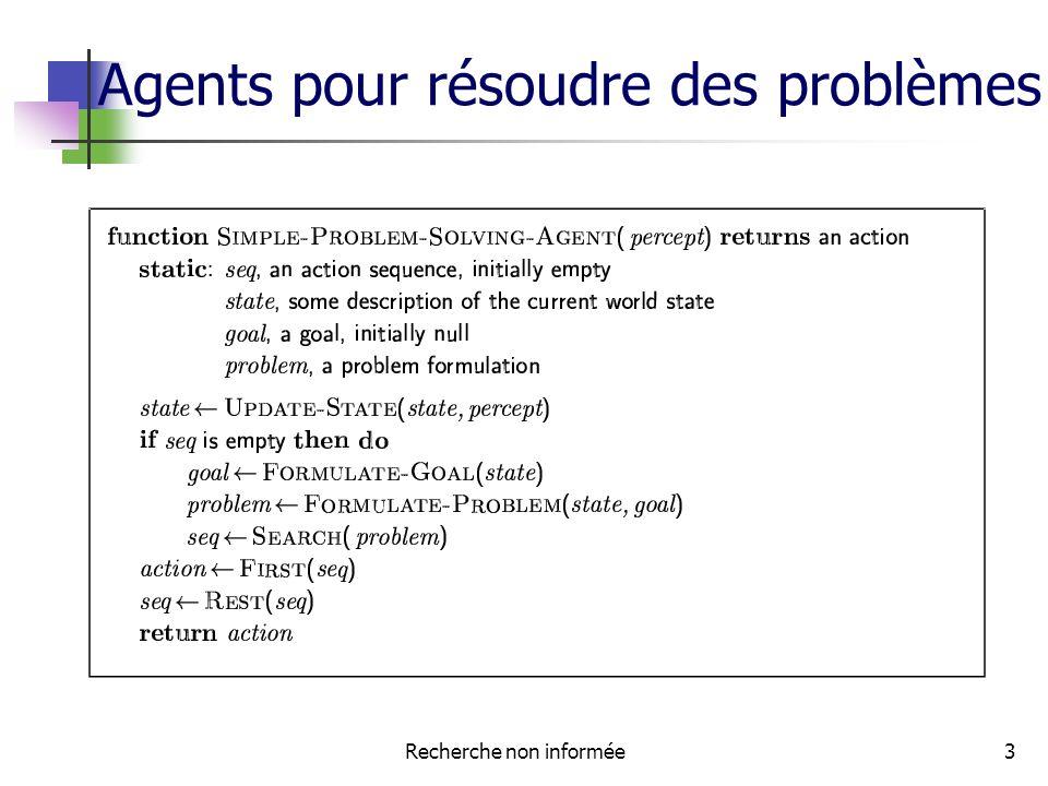 Recherche non informée3 Agents pour résoudre des problèmes
