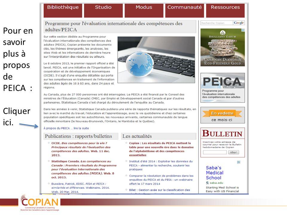 Pour en savoir plus à propos de PEICA : Cliquer ici.