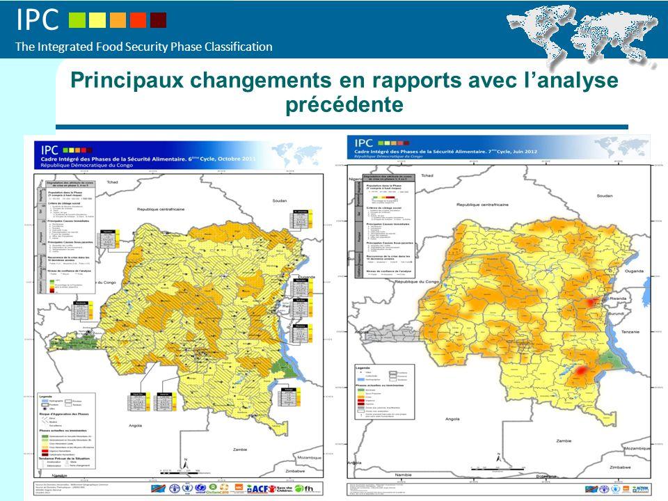 IPC The Integrated Food Security Phase Classification Les deux cartes en parallèles et encercler les changements Principaux changements en rapports av