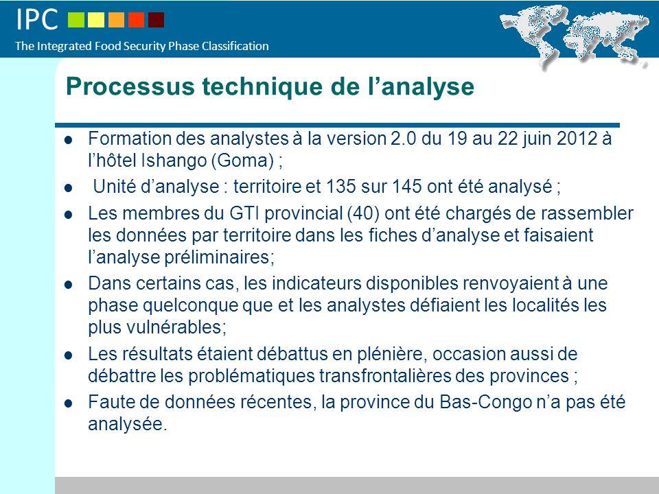 IPC The Integrated Food Security Phase Classification Processus technique de lanalyse Formation des analystes à la version 2.0 du 19 au 22 juin 2012 à