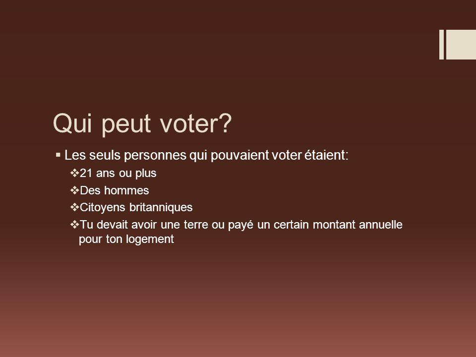 Qui peut voter.