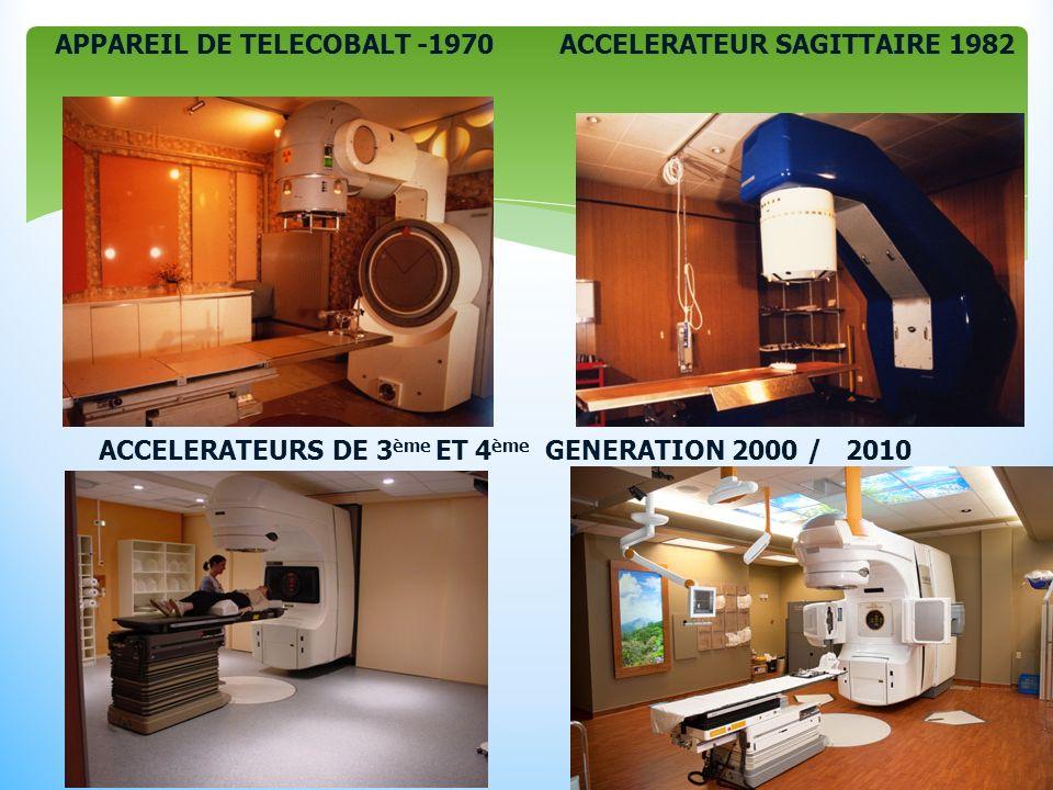 APPAREIL DE TELECOBALT -1970ACCELERATEUR SAGITTAIRE 1982 ACCELERATEURS DE 3 ème ET 4 ème GENERATION 2000 / 2010