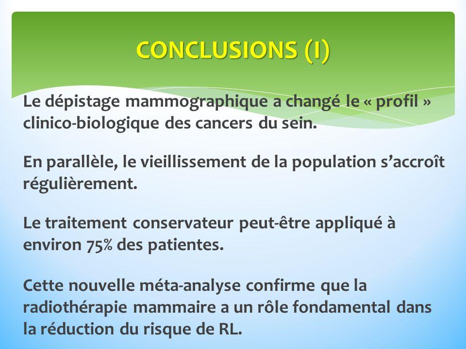 Le dépistage mammographique a changé le « profil » clinico-biologique des cancers du sein.