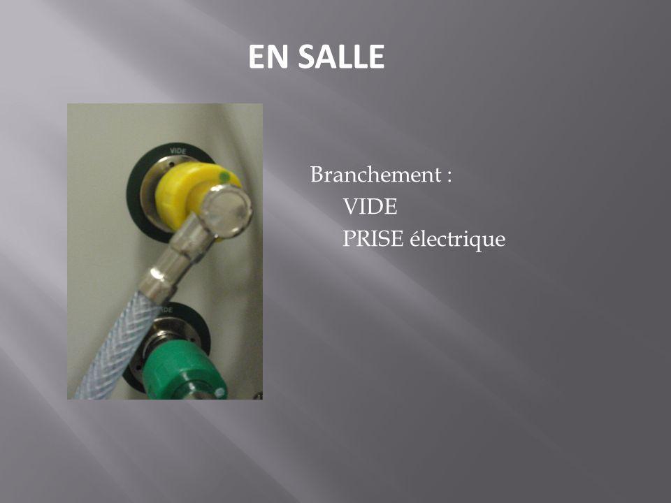 Branchement : VIDE PRISE électrique EN SALLE