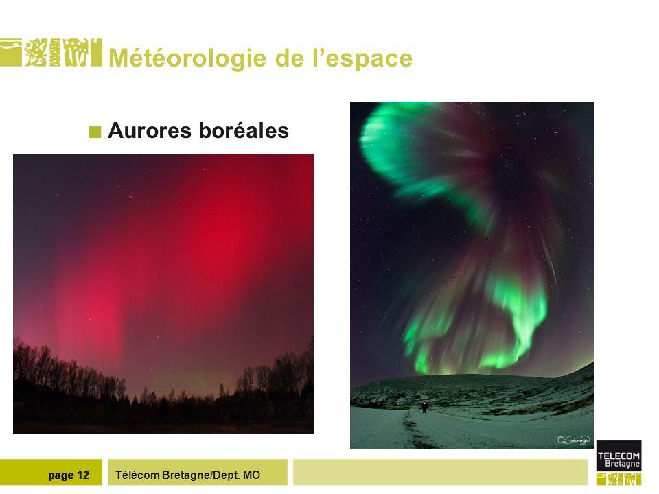 Télécom Bretagne/Dépt. MOpage 12 Météorologie de lespace Aurores boréales