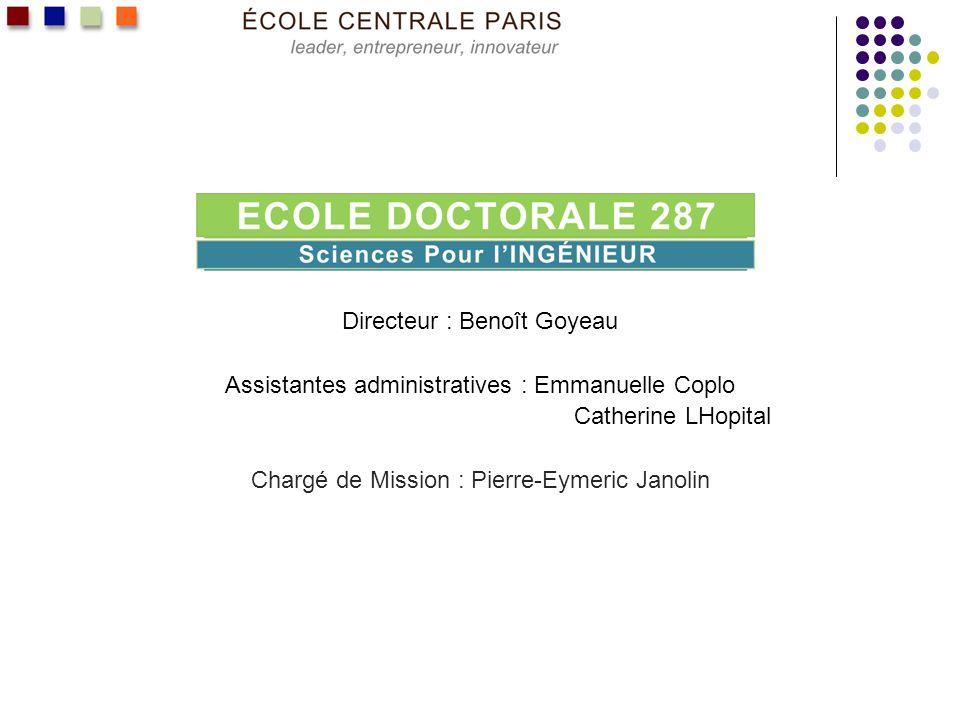 Environnement scientifique LEcole Doctorale 287 portée par lEcole Centrale Paris (ECP), en co- accréditation avec - lEcole Centrale de Lille et en association avec - lInstitut Supérieur de Mécanique de Paris – SUPMECA LED 287 est habilitée à délivrer le grade de Docteur de lEcole depuis 1986.