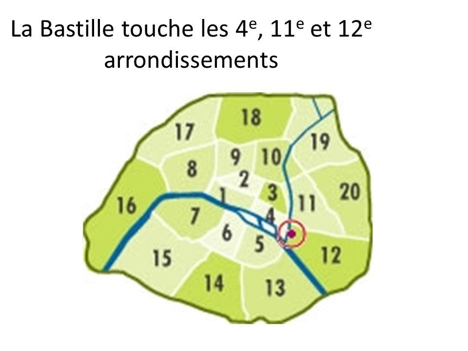 La Bastille touche les 4 e, 11 e et 12 e arrondissements